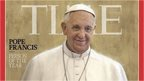 Time magazine cover showing Pope Francis
