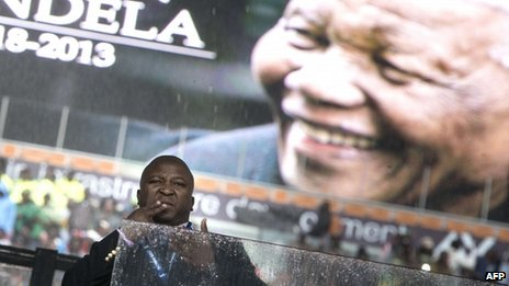 The sign language interpreter during Nelson Mandela's memorial service