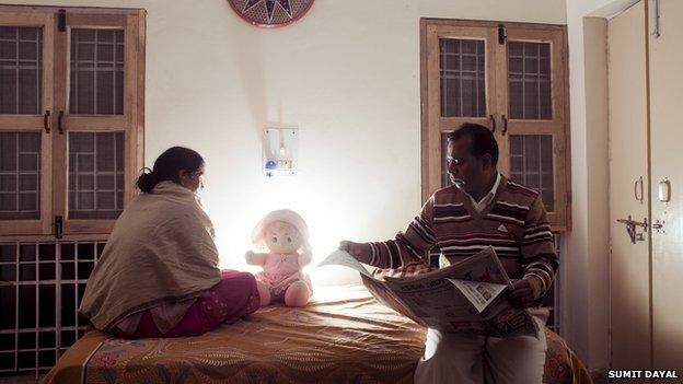 The victim's family in Delhi