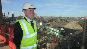 Newcastle University vice chancellor Professor Chris Brink at the site