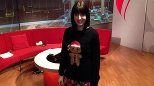 Angelina Socci in Christmas jumper