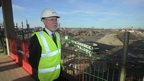 Newcastle University vice chancellor Chris Brink at the site