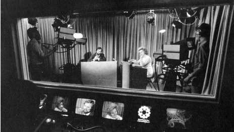 Swindon Viewpoint programme Forum being recorded in the 1970s