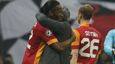 Didier Drogba and Jose Mourinho