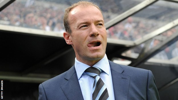 Former England striker, and Newcastle manager Alan Shearer