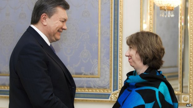 President Yanukovych with Catherine Ashton (11 Dec)