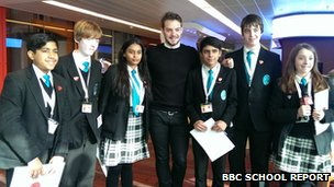 John Whaite and School Reporters from The Compton School