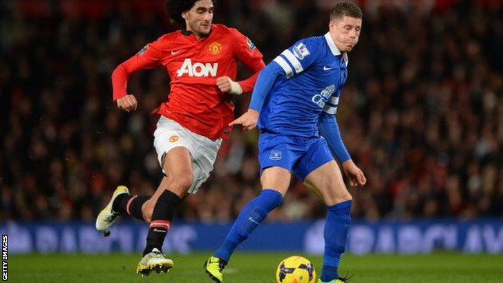 Marouanne Felaini (left) with Ross Barkley
