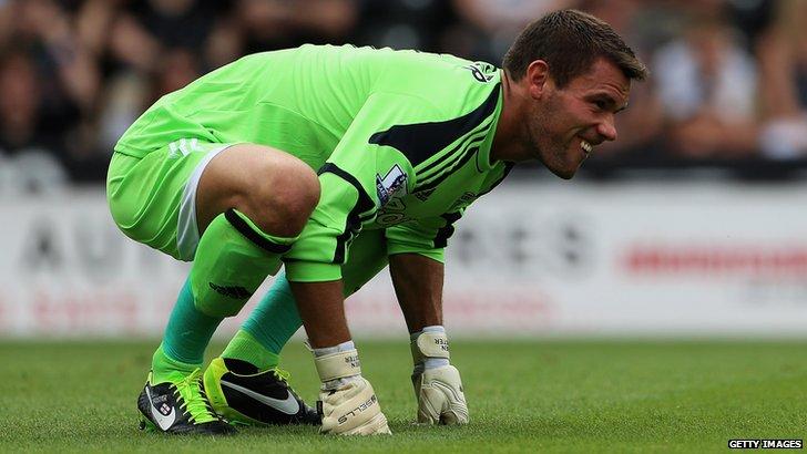 England goalkeeper Ben Foster