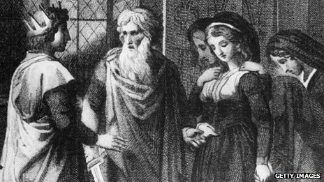 Alfred, the Great with his wife, Elswitha