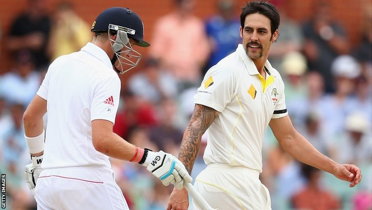 Joe Root and Mitchell Johnson