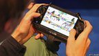 Man playing a PS Vita