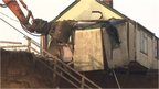 Demolition of Happisburgh bungalow