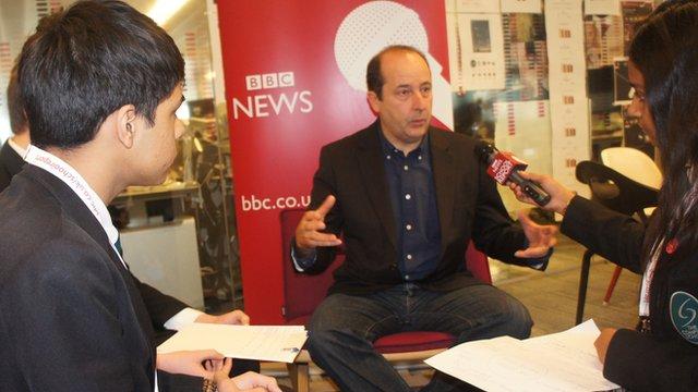 School Reporters interview Steve Herrmann