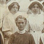 Edith Cavell with trainee nurses at her Brussels school (Cavell Nursing Trust)