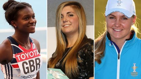Dina Asher-Smith, Amber Hill and Charley Hull
