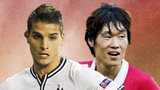 Erik Lamela and Ji-Sung Park