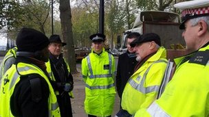 Eddie Nestor with TfL and police officers