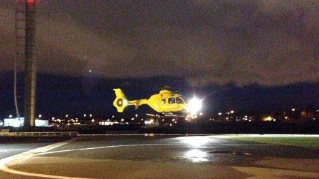 Police Scotland helicopter takes off