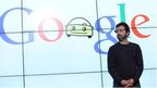 Google logo and man