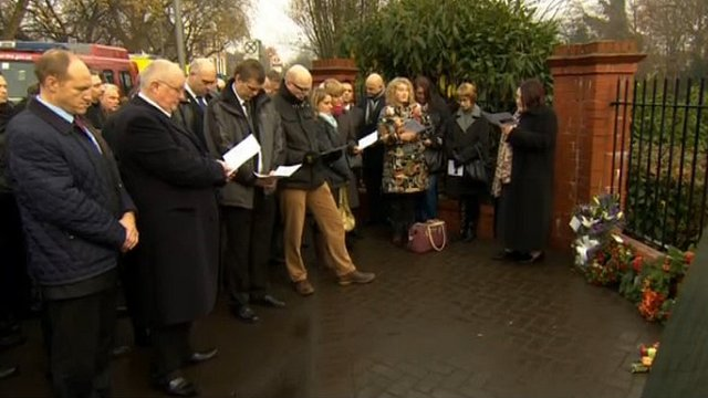 Memorial service for Clapham rail crash victims