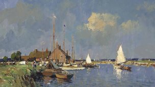 Detail from Summer On The Norfolk Broads by Edward Seago