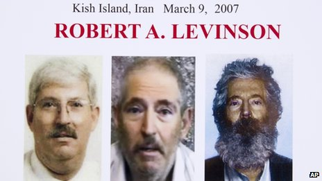 An FBI poster shows a composite image of retired FBI agent Robert Levinson, released on 6 March 2012