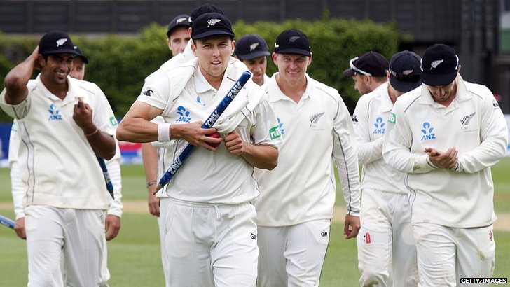 Trent Boult leads New Zealand off
