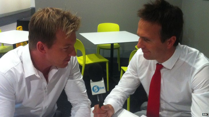 Brett Lee and Michael Vaughan