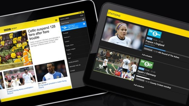 BBC Sport app now supports larger tablets...