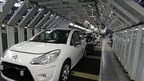 Peugeot car on production line