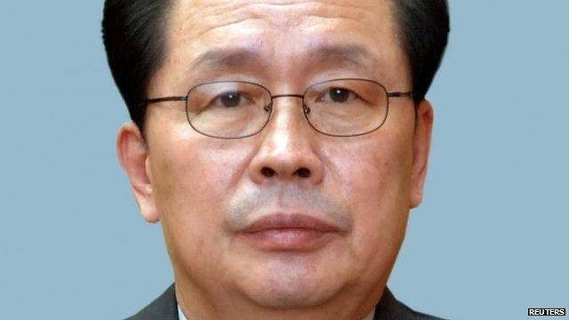 KCNA picture shows Jang Song Thaek,