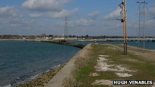 Disused Hayling island rail bridge