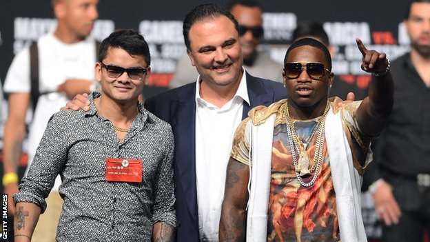 Marcos Maidana and Adrien Broner