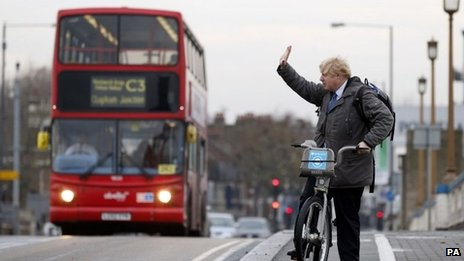 Boris Johnson on Wandsworth Bridge