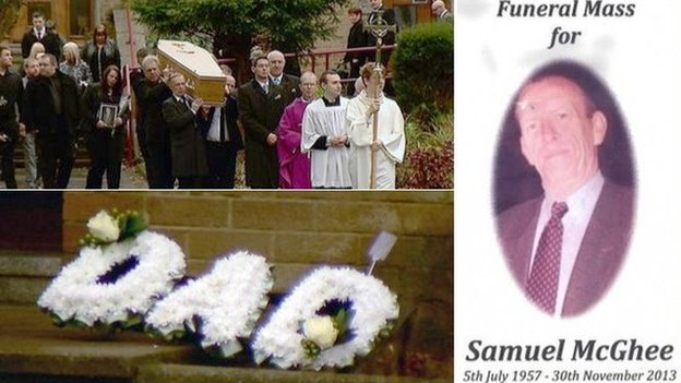 Samuel McGhee's funeral