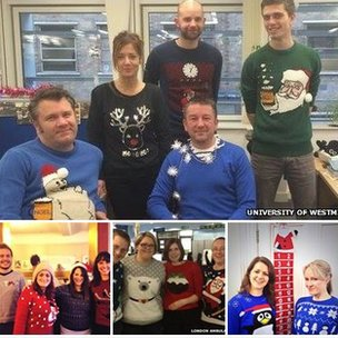 Christmas jumper wearers