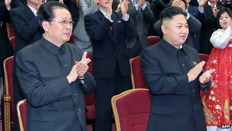 Chang Song-thaek and Kim Jong-Un in April 2013
