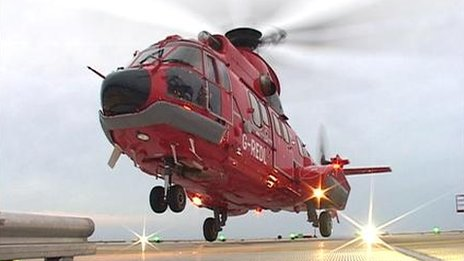 The Super Puma before it crashed