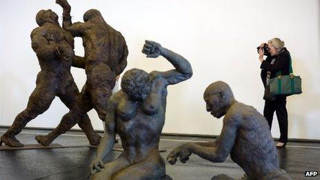 Ousmane Sow's sculptures