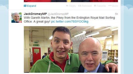 Jack Dromey tweet