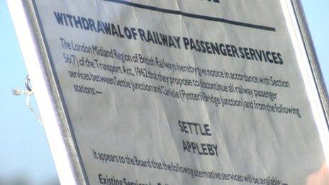 British Rail closure notice