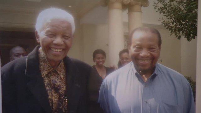 Nelson Mandela and Richard Maponya