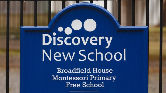 Discovery New School sign