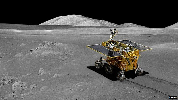China makes its first rover landing on Moon - CBBC Newsround