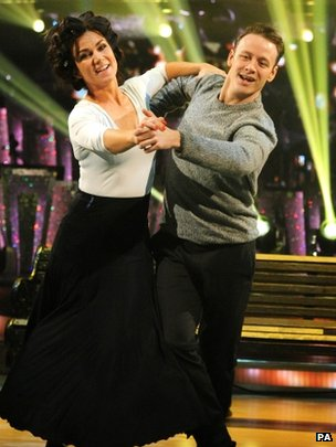 Susanna Reid in Strictly Come Dancing rehearsals