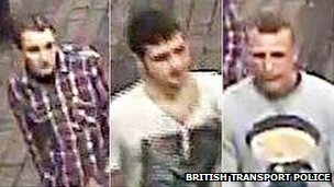CCTV pictures of men at Moor Street station