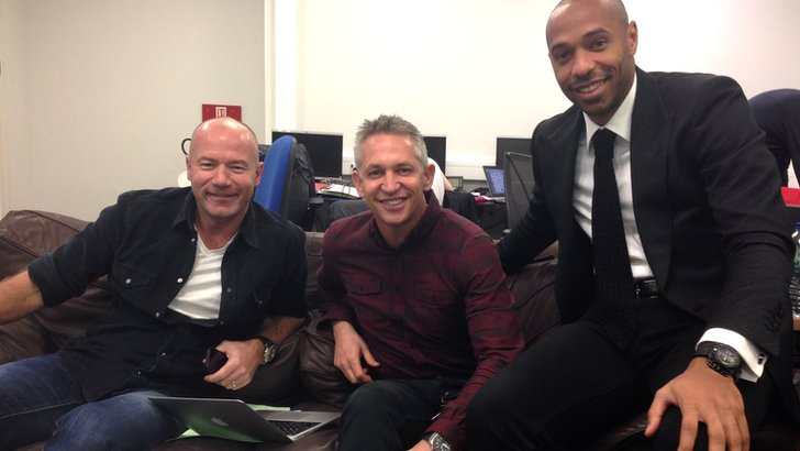 Alan Shearer, Gary Lineker and Thierry Henry