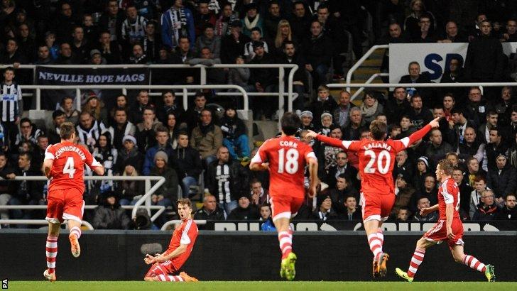 Southampton celebrate scoring