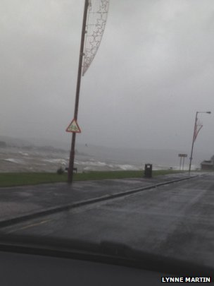 Choppy seas at Helensburgh